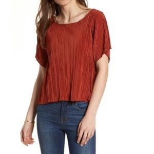 Madewell Pleated Blouse XS